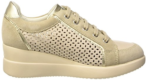 Geox Damen D Stardust A Sneaker mehrfarbig (Multicolor (Beige / Lt Taupe))