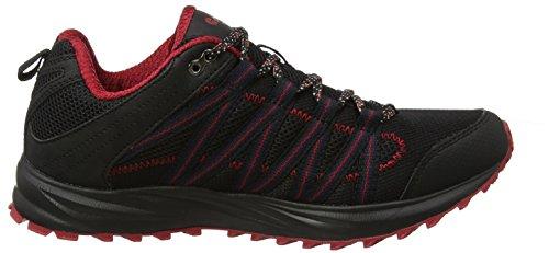 Hi-Tec Sensor Lite, Scarpe da Trail Running Uomo Nero (Black/red 028)
