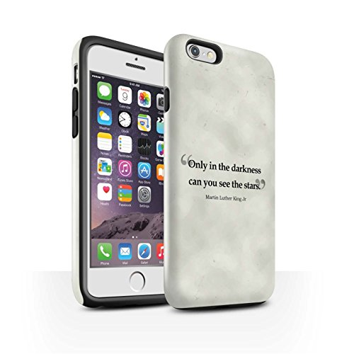 STUFF4 Glanz Harten Stoßfest Hülle / Case für Apple iPhone 6 / Stephen Hawking Muster / Berühmte Zitate Kollektion Martin Luther King