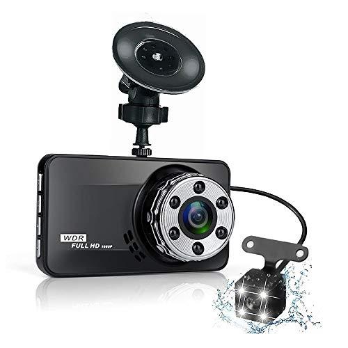ZHL Dash Cam, 1080P Full-HD-Doppelobjektiv-DVR-USB-Kamera Fürs Auto Mit 170-Grad-Weitwinkel-Loop-Aufnahme Versteckter Recorder Für Autos 30fps Echtzeit-dvr