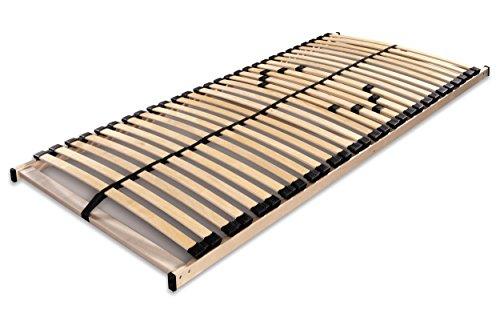 Betten ABC Lattenrost Max1 NV / Montierter Lattenrahmen in 90 x 200cm mit Mittelzonenverstellung und 28 Leisten - geeignet für alle Matratzen