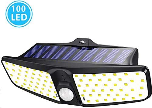 Babacom Solarlampen für Außen mit Bewegungsmelder [1800mAh], 80 LEDs Solarleuchte Garten, 220 ° Weitwinkel Solarleuchten, IP65 Wasserdichte Wandleuchte Solarlicht für Garten, Balkon, Hoftür