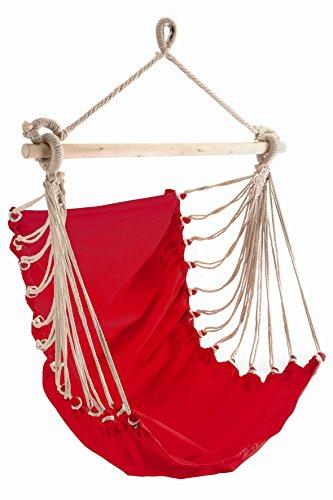 Leguana Handels GmbH Fauteuil suspendu Chaise hamac tendance Rouge