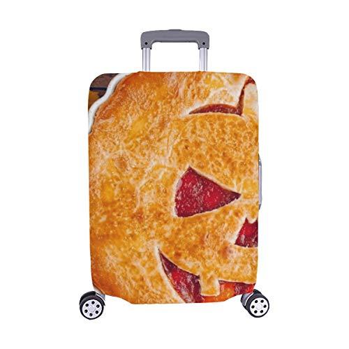 (Nur abdecken) Köstliche selbst gemachte Torte-Halloween-füllende Pumpkinstrawberry Stockfoto Muster-Spandex-Laufkatzen-Reise-Reisegepäck-Schutz-Koffer-Abdeckung 28,5 x 20,5 Zoll