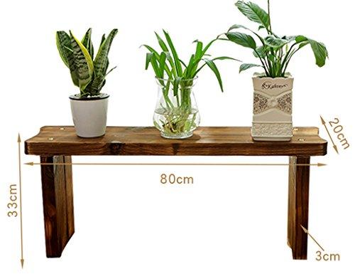 ZCJB Etagères de plantes Balcon Salon Antiseptique Bois Multicouche Succulentes Fleur Plateau Véritable Bois Plancher Seule Couche (taille : 80 * 33cm)