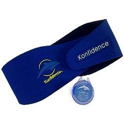 Konfidence AquaBands Ohrband/Stirnband, inkl. Silikon-Ohrstöpsel, für Babys/Kinder/Erwachsene