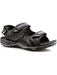 7802eb2e548 PDQ Mens 3 Touch Fastening Synthetic Nubuck Sports Sandals Shoes Size 6-12