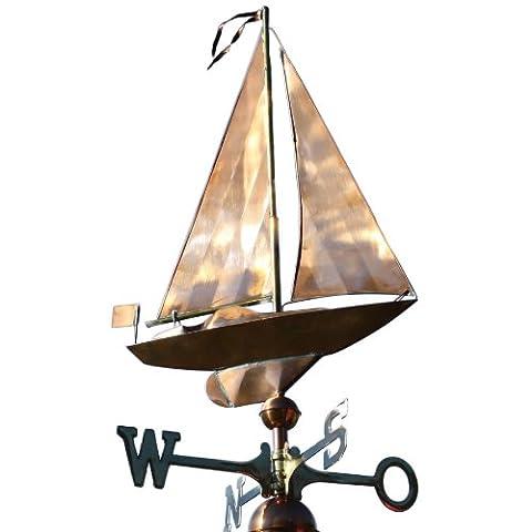 WEATHERVANE Polished Sailboat