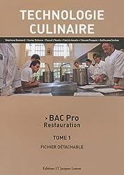 Technologie culinaire Bac Pro Restauration : Tome 1, Fichier détachable