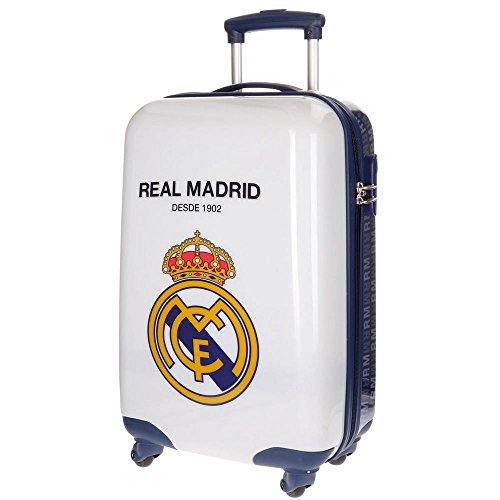 Real Madrid 1902 Equipaje Infantil, 55 cm, 33 litros, Blanco