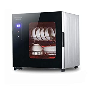 MXRqndqa Wärmegeräte Desinfektionsschrank 45L Haushalt kleine Tischplatte Hochtemperatur-Geschirrkorb Mini Edelstahl Desinfektionsschrank (Größe: 430x360x445mm)