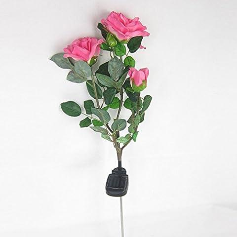Katomi Solar Rose Flower Lights , Solar Powered Garden Outdoor