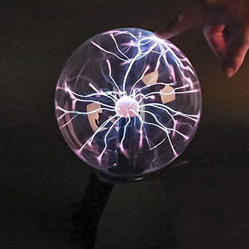 TronicXL Plasma Ball Lichtkugel Blitzkugel Plasmaball Lampe Leuchte Deko Gadget Glaskugel Plasmalampe Kugel Disco Party