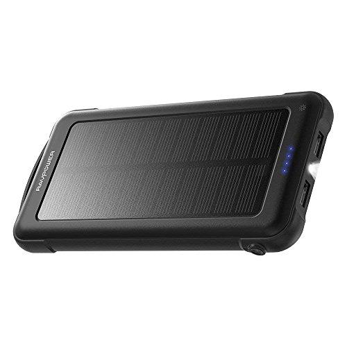 RAVPower Solarladegerät 10000mAh Outdoor Powerbank mit iSmart