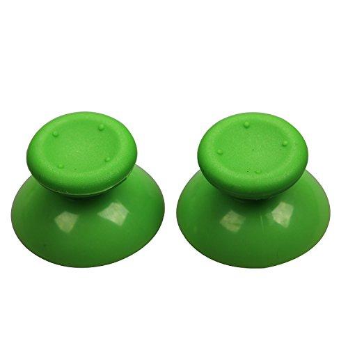eJiasu 2 pares (4 Piezas) 3D de seta plástica Thumbstick Stick analógico de repuesto pa Joystick para Microsoft Xbox 360 Controller XBOX360 (verde-2 pares)