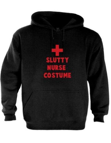 Slutty Nurse Costume Schwarz XX-Large Kapuzenpullover Hoodie