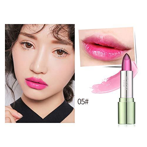 Babettew Mode Lippenstift Make -up Kosmetik Dauerhaft 100% Natur pur Lip Tint Primer Veränderung der Temperatur Aloe Vera Jelly Lipbalm(05) - 100% Pure Moisturizing Balm