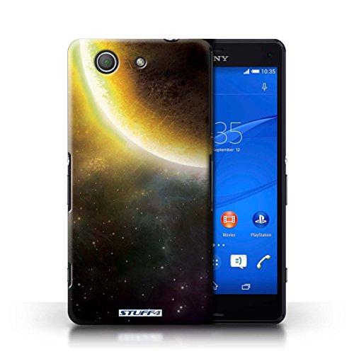 Kobalt® Imprimé Etui / Coque pour Sony Xperia Z3 Compact / Planète Jaune conception / Série Cosmos Éclipse Jaune