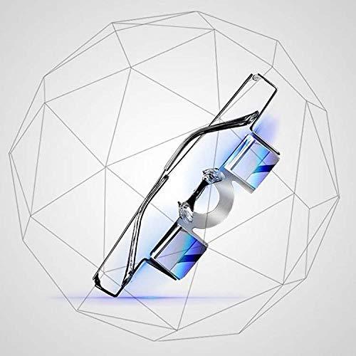 LJXiioo Prismenbrille, Faule Brille Horizontale Brille zum Lesen/Fernsehen