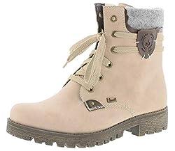 Rieker Damen Stiefeletten 785G5, Frauen Schnürstiefelette,riekerTEX, Woman Freizeit leger Stiefel Chukka Boot,rosa,39 EU / 6 UK