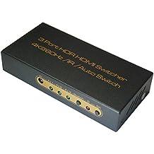 Huierav 4K @ 60Hz HDMI 2.0switch HDMI 3x 1| sostegno Ycbcr 8BIT 4: 4: 4, bit 4: 2: 2, 4: 2: bit 0| HDR e HDCP 2.24K/3D/1080p | 1PCS 1.5m 28AWG cavo HDMI 2.0come regalo