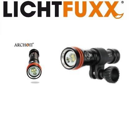 LICHTFUXX - 2in1 LED-Taucherlampe / Tauchlampe (1300lm) mit Magnetschalter; hochwertig, robust; bis 100m Tiefe inkl. Zubehör
