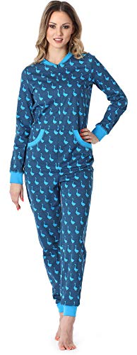 Merry Style Pigiama Intero Donna MS10-175 (Blu Oche, M)