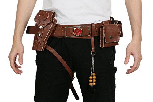 Xcoser Halloween Gürtel mit Gun PU Leder Zubehör für Herren Film Verrücktes Kleid Kleidung Prop ()
