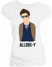 Doctor Who David Tennant Vectory Allons Juniors Shirt