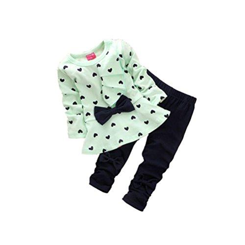 DOLDOA Baby Kinder Mädchen T-Shirt Tops + Hosen Bekleidungssets Baby Sets (80, (The Frauen Kostüm Winnie Für Pooh)