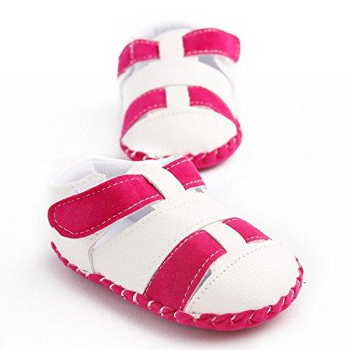 Culater® Ragazze del bambino Ragazzi pattini della greppia splicing morbida suola antiscivolo sandali del bambino Sneakers Rosa