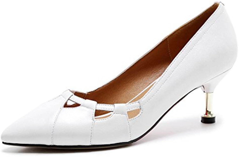 GAOLIXIA Damenschuhe Spitz High Heels Pumps Hohl Stiletto Heels Pendler Arbeit Karriere Schuhe Court Schuhe Schwarzö