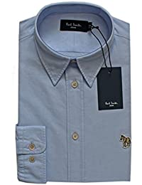 fe06f7ccc6b7 Paul Smith Men's Luxury Oxford Logo Shirt Blue/White Tailored FIT Size S/M