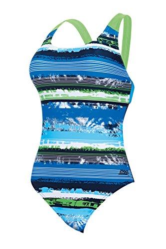 Zoggs Damen Aquabrush Sprintback Green/Multi-Colour