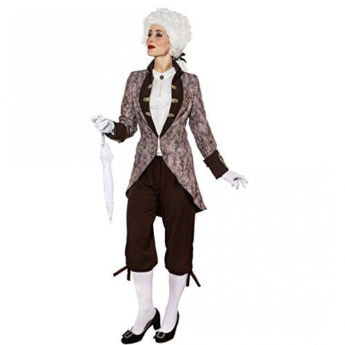 Kostüm Muster Historischen - Damenjacke Ornament Muster Gr. 36- 48 Kurzmantel Gehrock Fasching Barock (40)