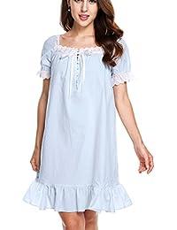 quality design 24bbe 6db7d Suchergebnis auf Amazon.de für: nachthemd rüschen: Bekleidung