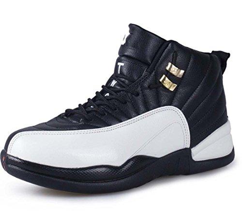 Winter Dämpfung Anti-Rutsch-Verschleiß-resistent Outdoor Sports Basketball Schuhe Freizeitschuhe Für Männer Und Frauen ( Color : Black , Size : 36 )
