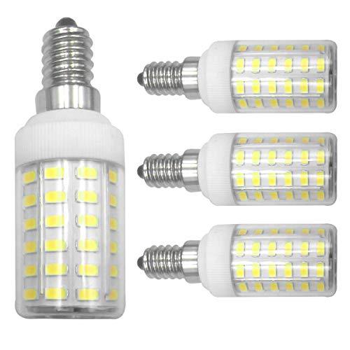 LED-Leuchtmittel, E14, 7 W, entspricht 100 Watt, Tageslichtweiß, 6500 K, Schutzkontakt 85 CRI, 950 Lumen, 100-265 V, Kandelaber, Edison-Sockel, nicht dimmbar, 4 Stück (Keramik Kandelaber-sockel)