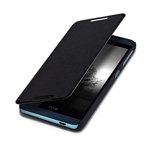 kwmobile Cover Flip Case per HTC Desire 626G - Custodia protettiva richiudibile in stile flip cover in nero