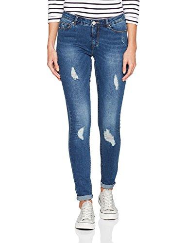 ONLY Damen Skinny Onlcarmen Reg SK DNM Jeans BJ10221 Noos, Blau (Medium Blue Denim), W28/L30 (Herstellergröße: 28)