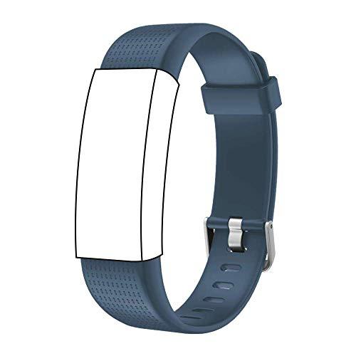 endubro Cinturino per Fitness Tracker ID130 Plus Color HR, Willful Orologio Fitness Tracker & Molti Altri Modelli Realizzato in TPU Skin-Friendly con Chiusura antiallergica (Blu)