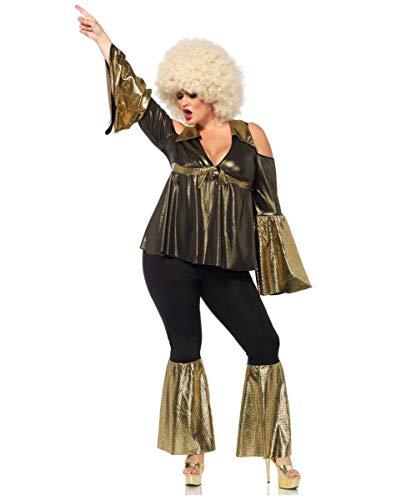 Horror-Shop Disco Diva Plus Size Faschingskostüm 1X-4X 1X/2X