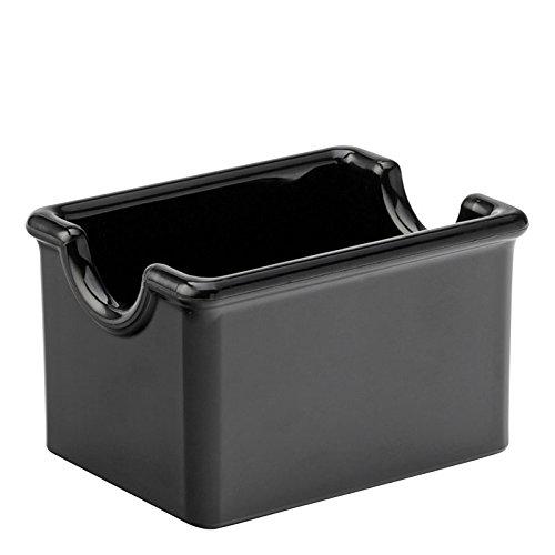 UTOPIA Melamin Geschirr, ca45500300, schwarz Zucker Caddy 8,9x 6,3cm (9,5x 7cm) (Box Of 24) -