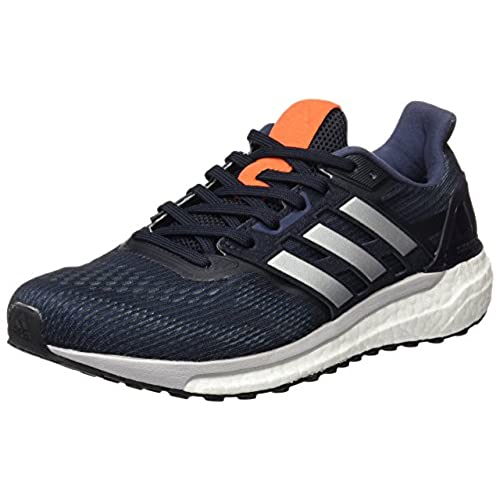 adidas Energy Boost 3, Chaussures de Running Compétition Homme, Bleu (Night Navy/Midnight Grey/Energy Orange), 49 1/3 EU