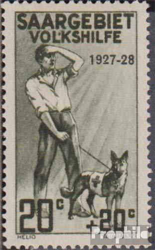 L Pflegedienst (Prophila Collection Saarland 122III geprüft, Apostroph zwischen L und K (Feld 15) 1927 Volkshilfe: Pflegedienste (II) (Briefmarken für Sammler) Gesundheit)