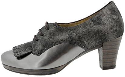 PieSanto Calzado Mujer Confort de Piel 9308 Zapato Abotinado Cómodo Ancho