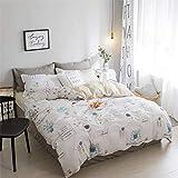 Bettbezüge mit Kissenbezug Schlafzimmer pastoralen Bettwäschesatz super weich Bequeme Tagesdecke Jungen Mädchen