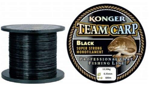 Konger Angelschnur Karpfenschnur Team CARP Black 600m Monofile Feeder (0,35mm / 13,50kg)