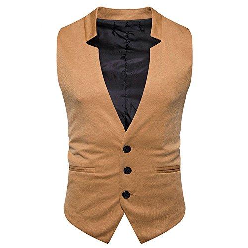 männer - Weste, männer - Casual - Mode - Anzug, Weste, Business - Anzug, Weste,Khaki,M -