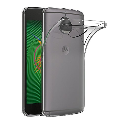 AICEK Moto G5S Plus Hülle, Transparent Silikon Schutzhülle für Motorola Moto G5S Plus Case Clear Durchsichtige TPU Bumper Lenovo Moto G5S Plus Handyhülle (5,5 Zoll)